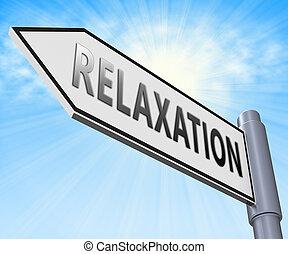 descansar, relaxe, ilustração, relaxamento, tranqüilo, exibindo, 3d