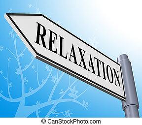 descansar, relaxe, ilustração, relaxamento, tranqüilo, representando, 3d