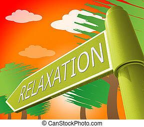 descansar, relaxe, ilustração, significado, relaxamento, tranqüilo, 3d