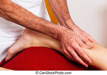 descanso, e, relaxamento, através, massagem