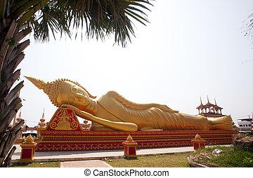 descanso, laos., buddha
