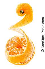 descascado, gostoso, doce, tangerina, laranja, mandarin, fruta