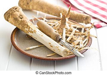 descascado, horseradish, raiz