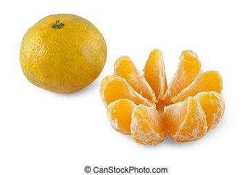 descascado, inteiro, tangerines