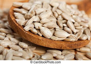 descascado, sementes girassol