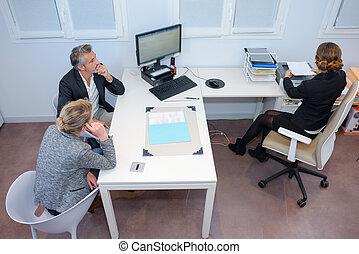 descendant, réunion, business, vue