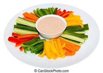 descendez sauce, salade verte