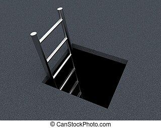 Descent downwards