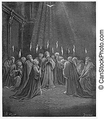 Descent of the Holy Spirit - Picture from The Holy...
