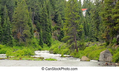 Deschutes River Rushing Past