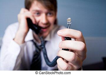 desconectado, telefone