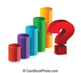 desconhecidas, resultados, negócio, gráfico