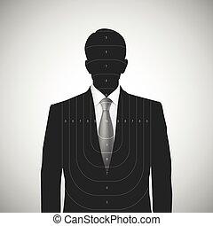 desconhecidas, silueta, alvo, human, pessoa
