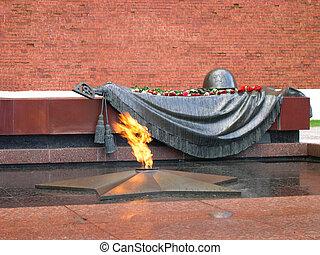 desconocido, moscow., wall., war., soldado, segundo, mundo,...