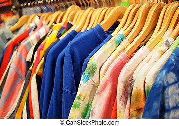 descontos, grande, moda, roupa, venda