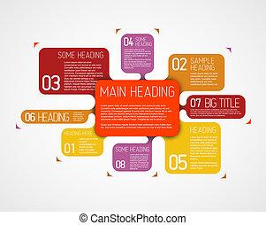descriptif, diagramme, vecteur, divers, gabarit, bulles