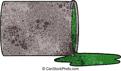 desecho tóxico, caricatura