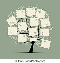 desejo, árvore, para, seu, desenho