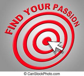 desejo, adoração, achar, indica, paixão, sexual, seu