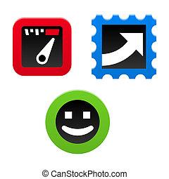 desempenho, ícone, jogo