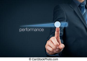 desempenho, aumento