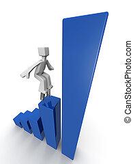 desempenho, conceito financeiro, crescimento