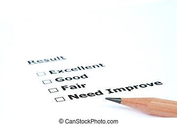 desempenho, resultado, necessidade, melhorar