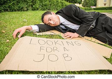 desempregado, homem