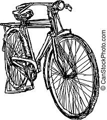desenhado, dood, vetorial, ilustração, mão