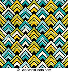 desenhado, pattern., seamless, coloridos, mão