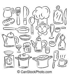desenhar, cozinha