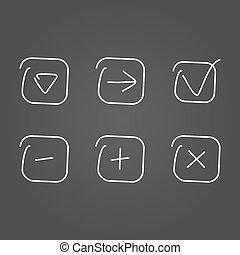 desenhar, jogo, efeito, ícone
