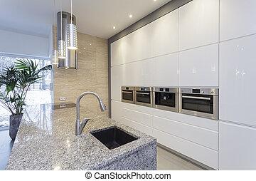desenhistas, interior, -, cozinha