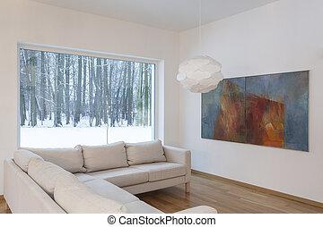 desenhistas, interior, -, sofá