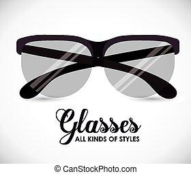 desenho, óculos