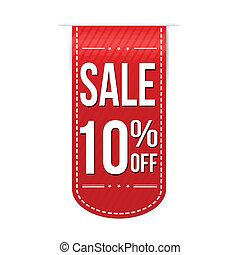 desenho, 10%, bandeira, desligado, venda