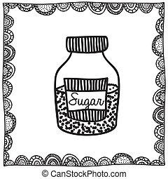 desenho, açúcar