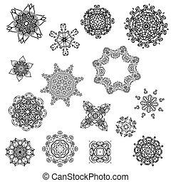 desenho, abstratos, jogo, arabesques