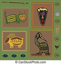 desenho, africano