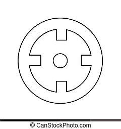 desenho, alvo, ilustração, ícone
