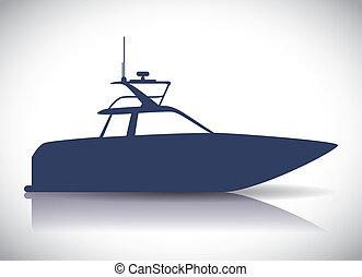 desenho, bote