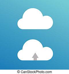 desenho, caricatura, ilustração, clouds.