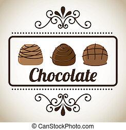 desenho, chocolate