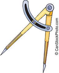 desenho, compass.