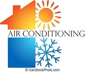desenho, condicionamento, ar