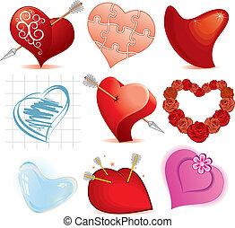 desenho, corações