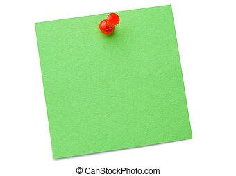 desenho, correspondência-isto, verde, alfinete