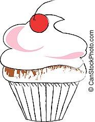 desenho, cupcake