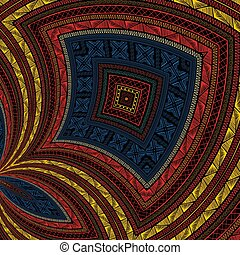 desenho decorativo, tribal, 4