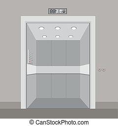 desenho, elevador